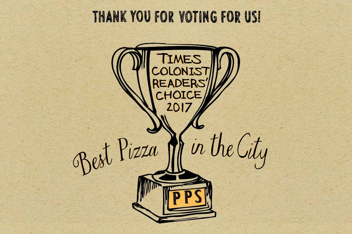 best pizza, yyj, times colonist, readers choice, prima Strada, wood fired pizza